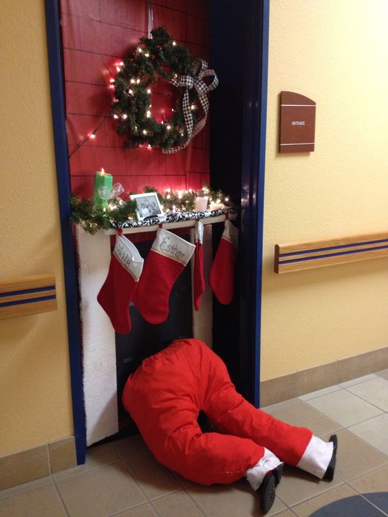 The 'Stuck At The Door' Santa Claus
