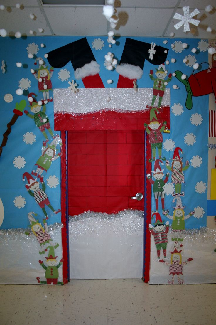 Christmas Classroom Door Decoration Ideas Elitflat