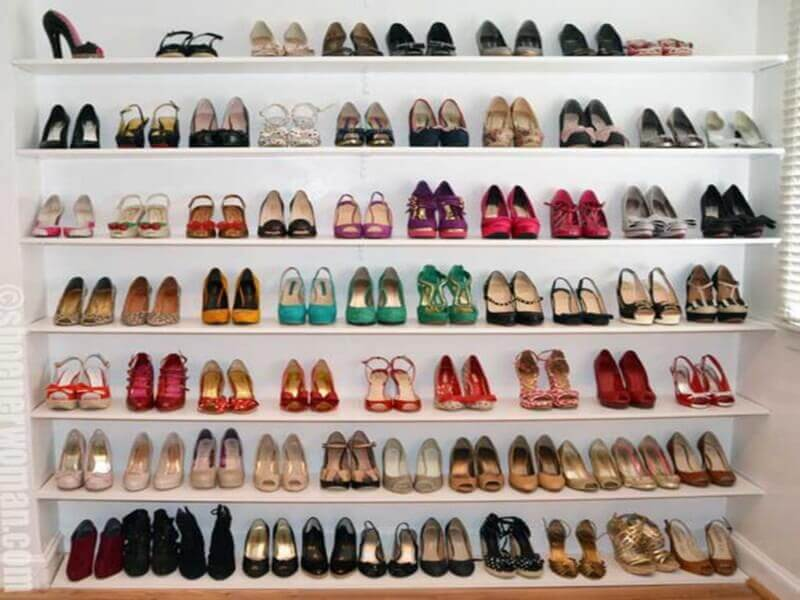 A Unique Shoe Storage Idea